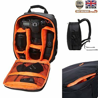 Orange Waterproof Camera Backpack Bag DSLR Case For Sony Canon Nikon Camera Len