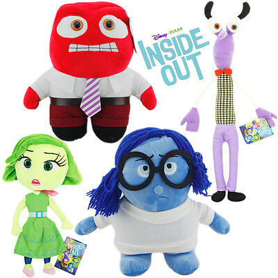 Inside Out 2015 Anger Sadness Fear Disgust Stuffed Animal Plush Soft Teddy Doll