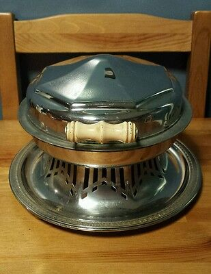 1925 Patent Art Deco Manning Bowman Waffle Iron MB Means Best Chrome Meriden, CT