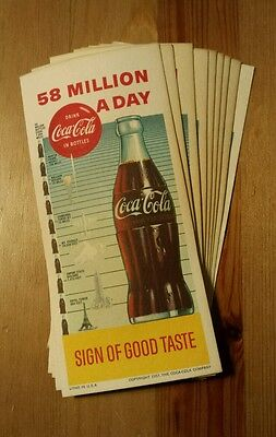 VTG 1957 Copyright Lot of 9 Coca-Cola Ink Blotters Litho with Neat Graphics!