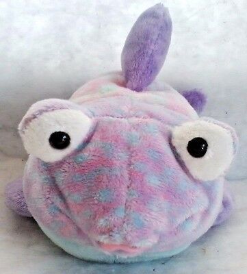 GOOGLY Fish MWNHT Ty Beanie Pluffie Collectible Stuffed Plush Toy + FREE Gift