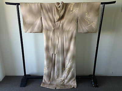 Floral Silk Vintage Women's Japanese Kimono Robe Hand Made One of a kind