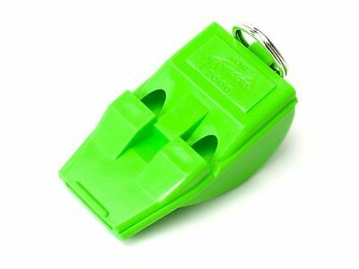 3 Acme T2000 Tornado 2000 Pealess Whistle Green Airfast High Pitch Tapered Mouth