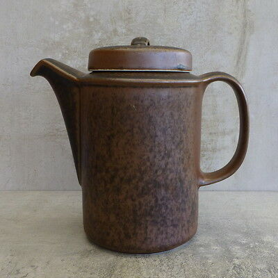 Mid Century Arabia Ruska Coffee Pot or Tea Pot Made in Finland 1960s Brown
