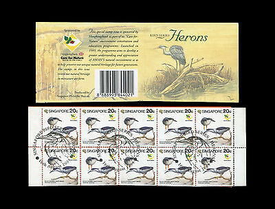 Singapore 1994 Herons $2 booklet with FDI p/m, slight toning on gum side.