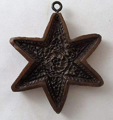 Springerle Speculaas Butter Cookie Paper Casting Stamp Press Mold - 6 POINT STAR