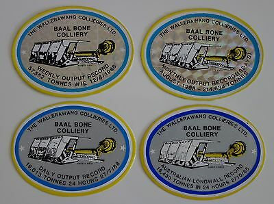 Baal Bone Colliery Record Mining Stickers For Toolbox Work Bench Hard Hat Etc