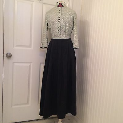 vintage 1920's Edwardian blouse and skirt