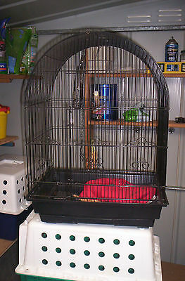 Black Bird Cage with Accessories