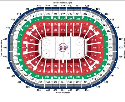 Montreal Canadiens Vs. St Louis Blues Feb 11 2017 7pm Bell Center 320 AA