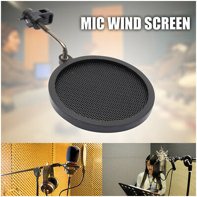 Record Studio Microphone Mic Wind Screen Pop Filter Mask Shield Angle Adjustable