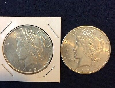1922P & 1923S 90% Silver Dollars