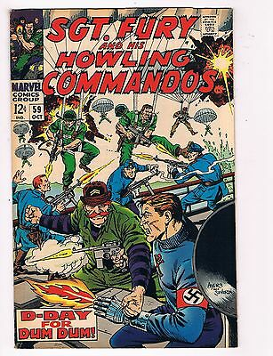 Sgt. Fury # 59 VF+ Nick Fury Marvel Comic Book Canning PEDIGREE Collection D21