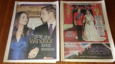 KATE MIDDLETON PRINCE WILLIAM CLIPPINGS Dating, Engagement, Wedding RARE ITEMS