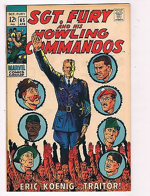 Sgt. Fury # 65 VF Nick Fury Marvel Comic Book Canning PEDIGREE Collection D21