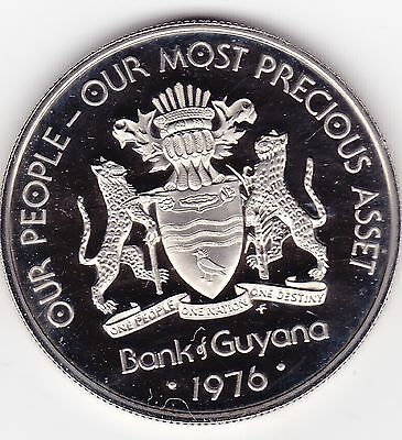 "1976 $1 Guyana Our People - Our Most Precious Asset ""Proof"""