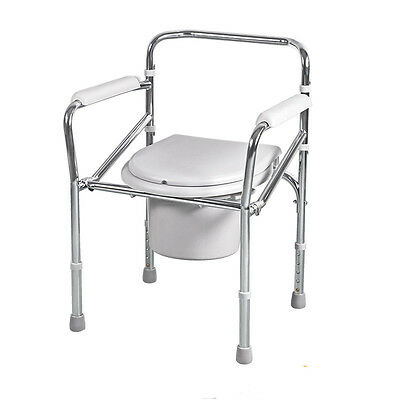 New Folding Bedside Bathroom Toilet chair commode seat potty chair safe pregnant