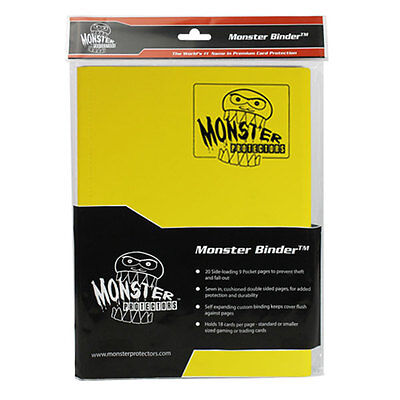 MATTE YELLOW Yugioh 9-Pocket 20 PAGES Monster Binder Card Protector BRAND NEW!
