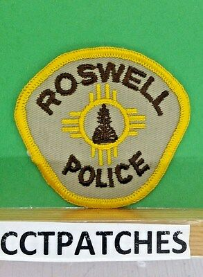 Vintage Roswell, New Mexico Police (Small) Shoulder Patch Nm
