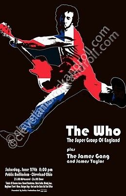 The Who 1970 Cleveland Concert Poster