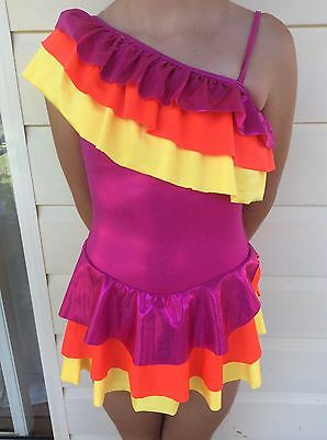 Colourful Girls Jazz/tap Costume