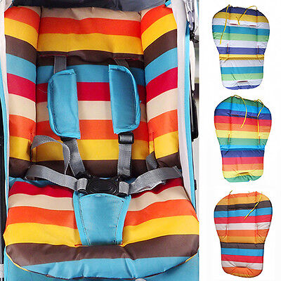 Waterproof Rainbow Baby Car Seat Liner Padding Pram Stroller Cushion Pad Nifty