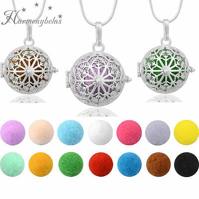 Snowflake Fragnance Necklace Pendant  Aromatherapy Pompons Perfume Diffuser