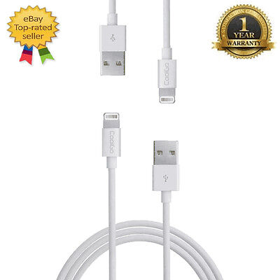 4 Pack [Apple MFI Certified] Lightning Charging Cable For iPhone 5, 6 & 7 White