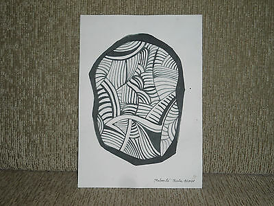 Roberto Burle Marx - Signed Watercolor, Card Paper, Vintage Art - Brazil - Rare