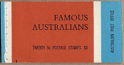 1968 Stamp Booklet $1 Famous Australians N68/3 (Hba) Stamps Muh