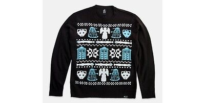 TeeFury Doctor Who Who's Sweater by Mandrie Ugly Christmas jumper NEW Medium Dr