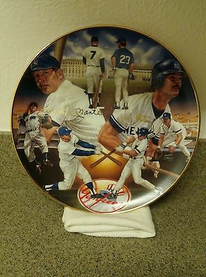 """""""yankee Tradition""""mantle & Mattingly Gold Edition Plate"""