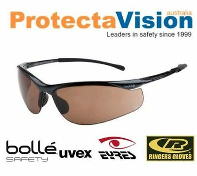 Bolle Bronze Lens Cycling + Golf Glasses 99.99%UV protection FREE Postage!