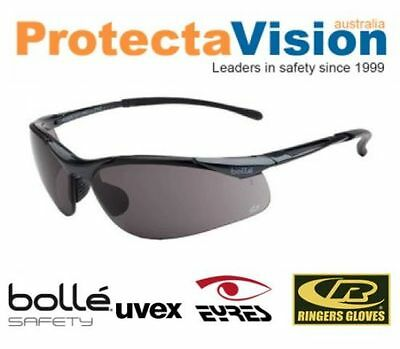 Bolle Smoke Lens Cycling Safety Sunglasses 99.99% UV Protection