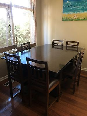 Dining room Table Art Deco 1930's with 8 Chairs