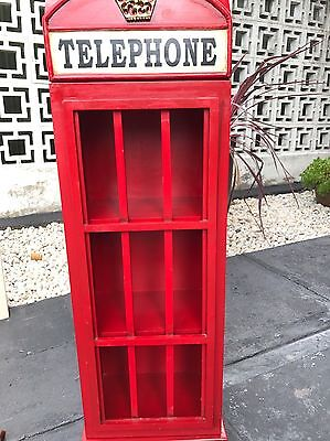 Wooden Phone Box Book Case