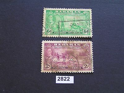 Bahamas 1948 Settlement to 2/- Used (2) Cat $18 Stamps