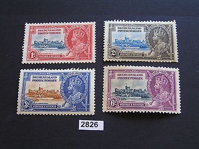 British Bechuanaland 1935 Silver Jubilee Set 4 Mint Cat $27 Stamps