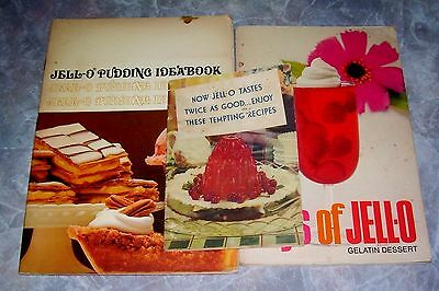 Jello Vintage Cookbooks Lot of 3 Jell-O Desserts Mid Century Recipe Ephemera