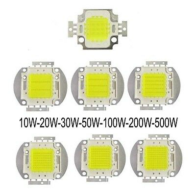 10W/20W/30W/50W/100W/500W Cool White 8000K-12000K LED Diode high power light