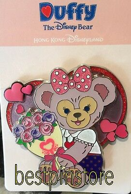 Disney pin - HKDL 2017 Valentine's Day - ShellieMay With Love Heart Flower