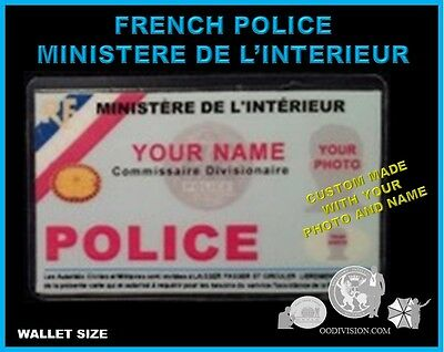 FRENCH POLICE movie OO DIVISION COLLECTOR  wallet size ID card