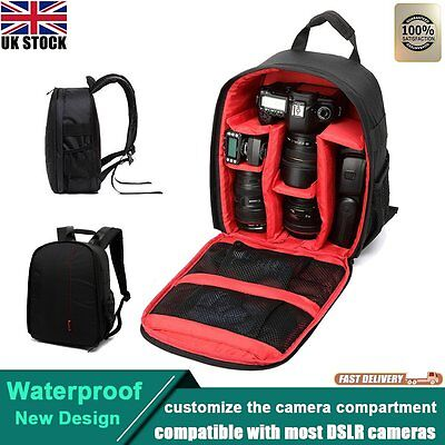 Red Waterproof Camera Backpack Bag DSLR Case For Sony Canon Nikon Camera Len Hot