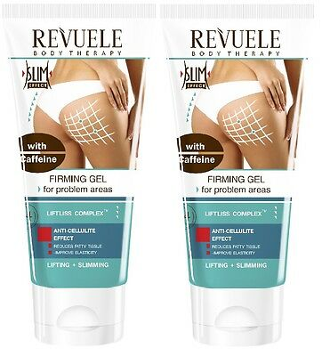 2x Revuele Lifting Firming Gel for Problem Areas with Caffeine 200ml