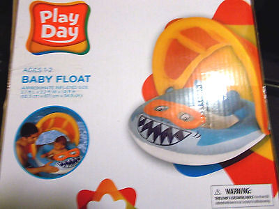 *Play Day* SHARK Baby Float With a Sun Canopy!!  ----- LOOK! Going on Vacation?