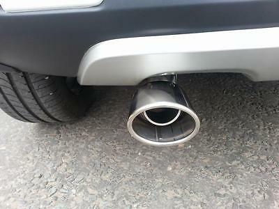 <Chrome Exhaust Tail Pipe for DACIA SANDERO / STEPWAY Stainless Steel Trim CT1A