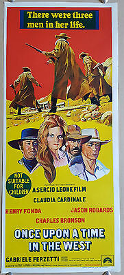 Once Upon a Time in the West original daybill movie poster Henry Fonda Bronson