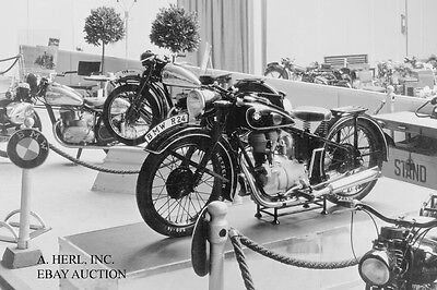 BMW R24 - 1948 debut motorcycle show - motorcycle photo photograph