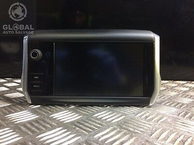 12-16 Peugeot 208 Sat Nav/radio Touch Screen Display 9812862880 (Has A Crack)