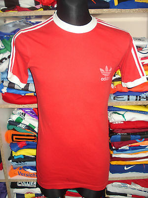 ADIDAS 1980s VINTAGE SHIRT SIZE L/XL MADE IN IRELAND JERSEY RED (f386)